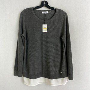 CALVIN KLEIN Gray Crewneck Sweater NWT